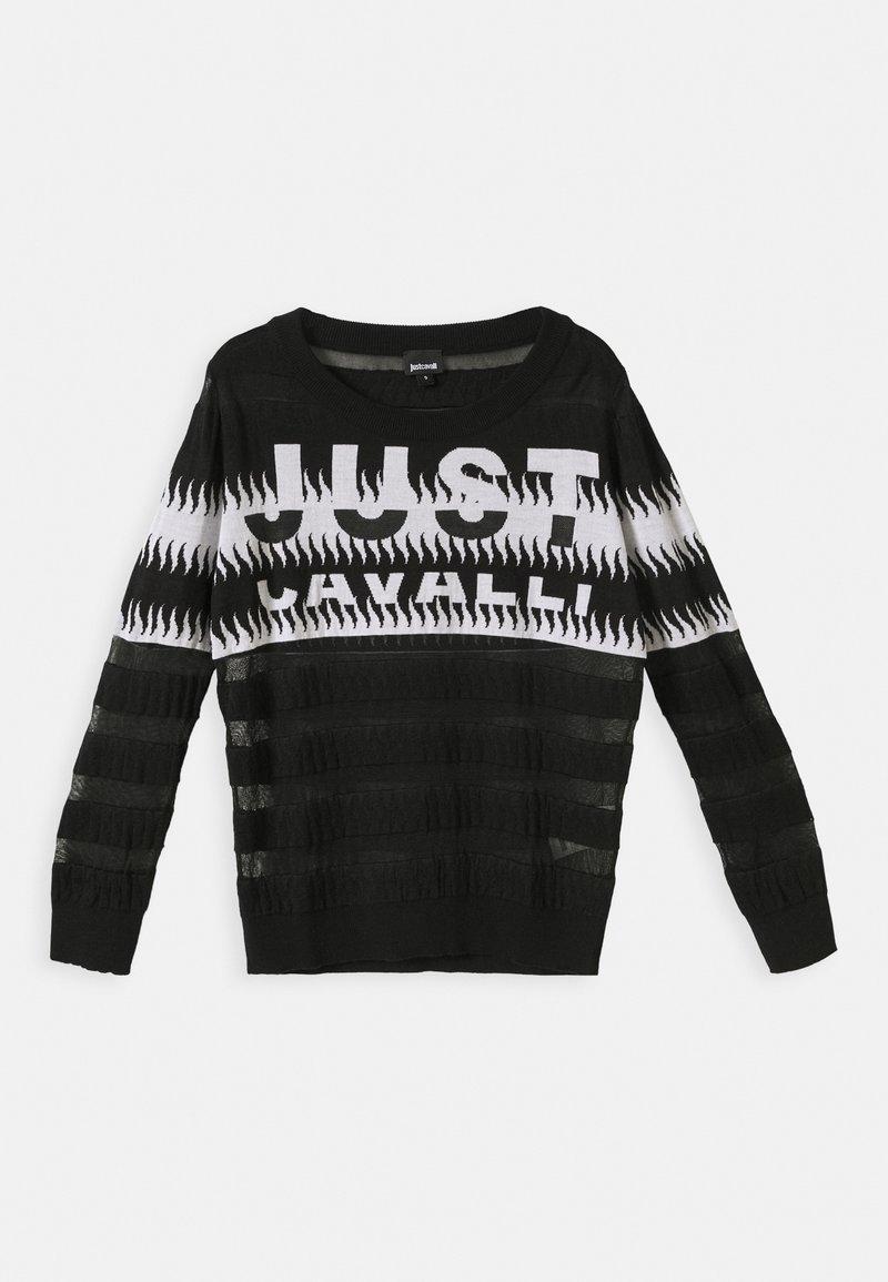 Just Cavalli - Svetr - black/white