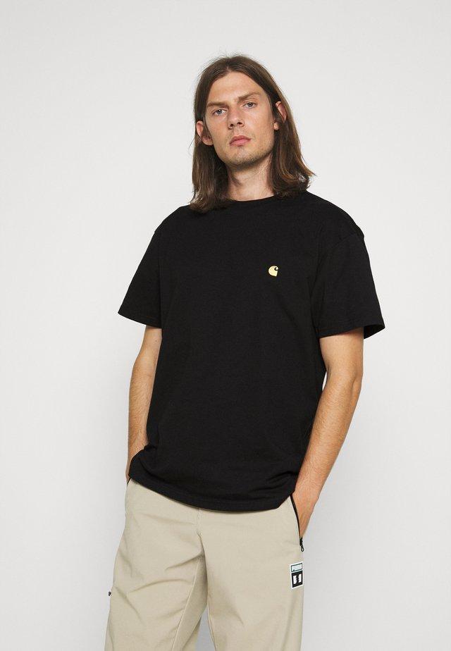 CHASE - T-shirt basic - black/gold