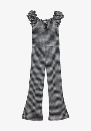 CHECK LACE UP MILKMAID SET - Trousers - black