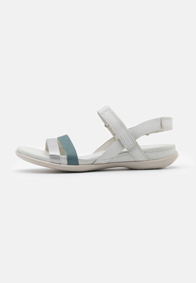 FLASH - Sandaalit nilkkaremmillä - silver trooper/shadow white