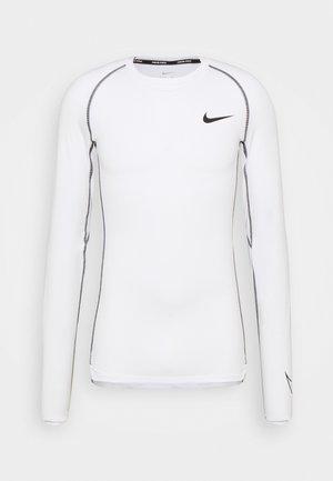 TIGHT - Sports shirt - white/black