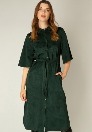 Shirt dress - dark forest