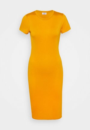 ESSENTIAL SHORT SLEEVE BODYCON MIDI DRESS - Vestido de tubo - sunflower yellow