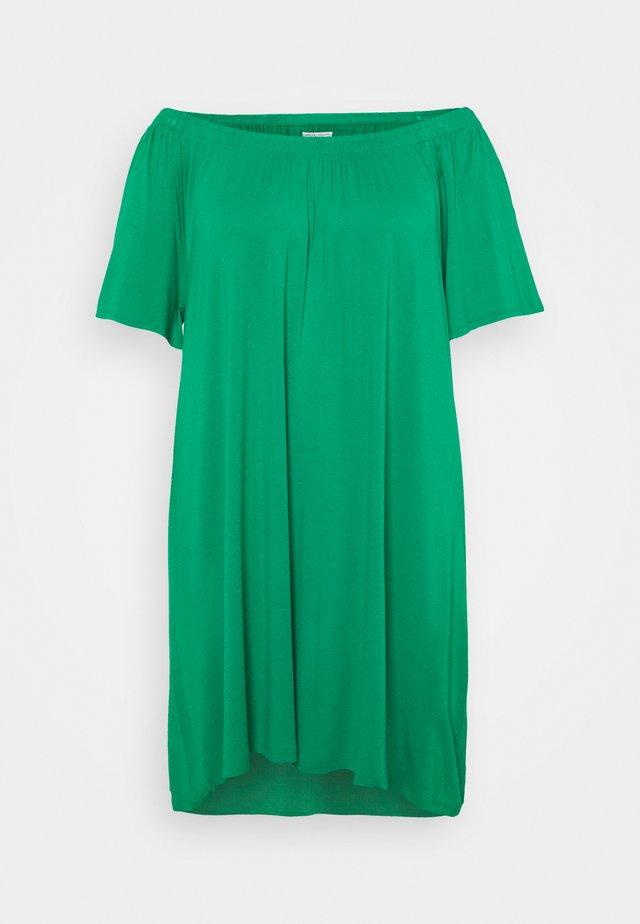 FLORAL BARDOT DRESS - Trikoomekko - green