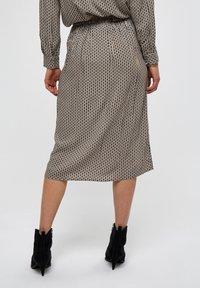 Minus - JASMINA  - A-line skirt - shadow dot steel grey print - 1