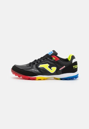 TOP FLEX - Astro turf trainers - black/multicolor