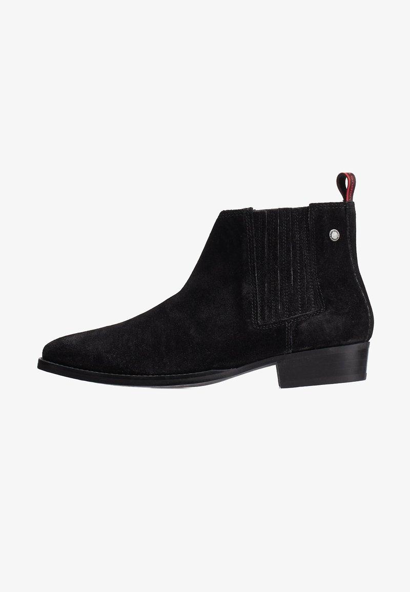 Base London - MONROE GREASY - Korte laarzen - black