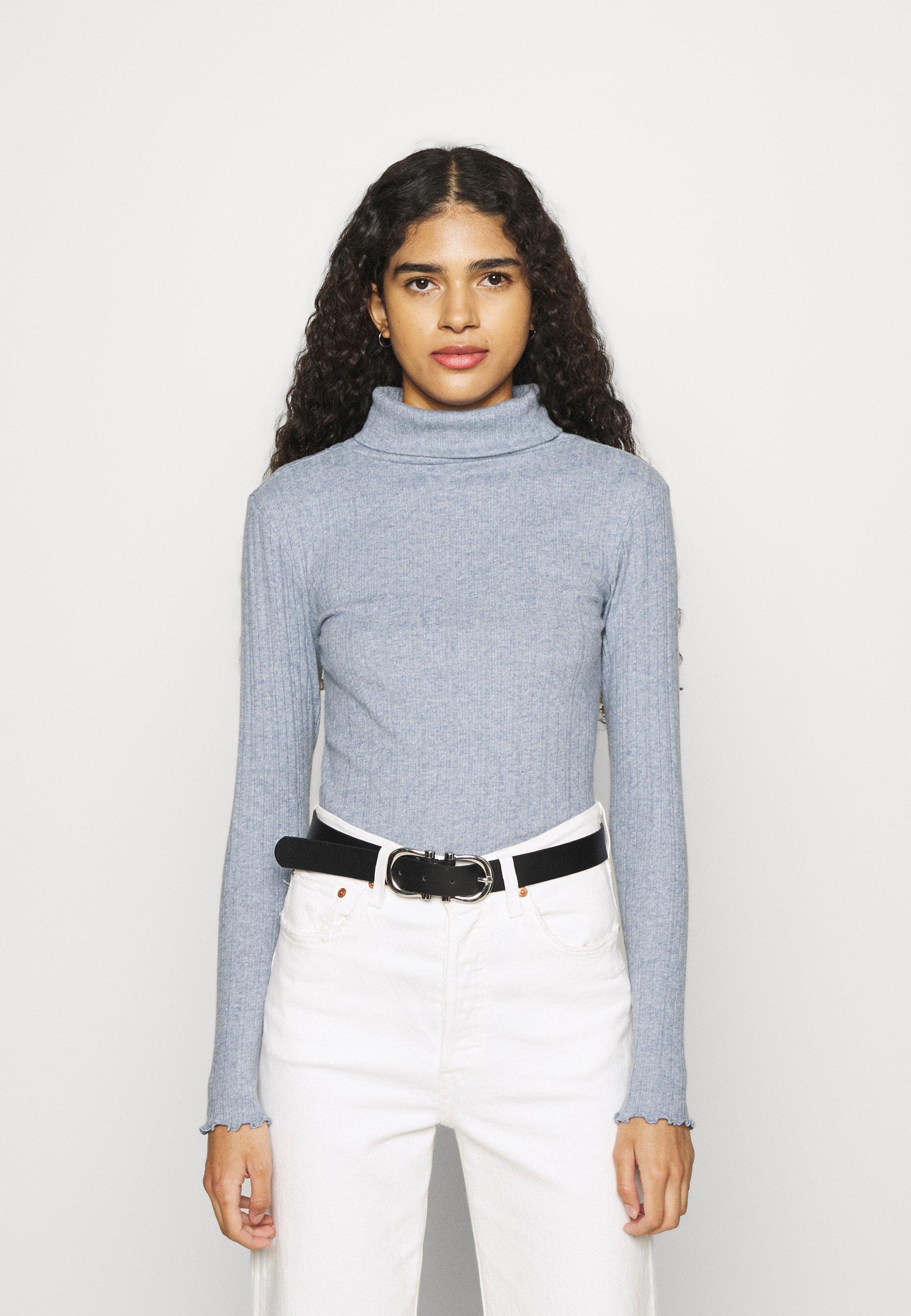 Women BRUSHED LETTUCE EDGE - Long sleeved top