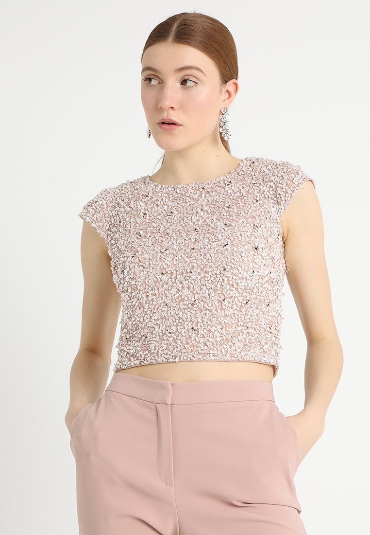 Lace & Beads - PICA  - Bluse - nude