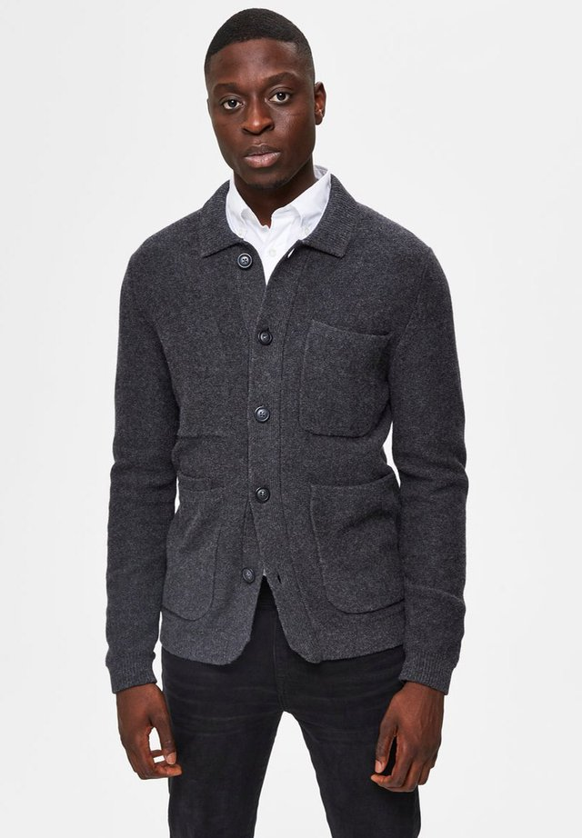 SLHJACKSON KNITTED  - Cardigan - anthracite