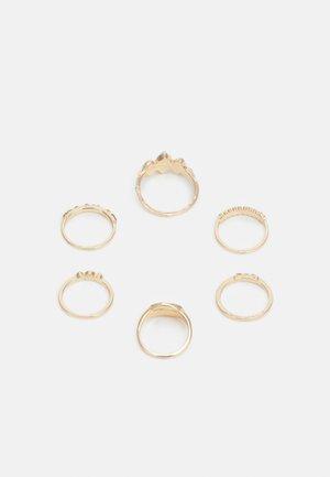 ONLMILLE FINGERRINGS 6 PACK - Ring - gold-coloured