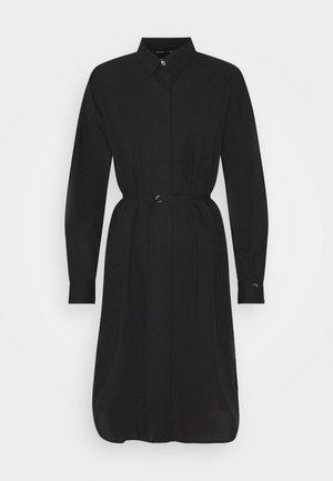 TIE CUFF SHIRT DRESS - Day dress - black