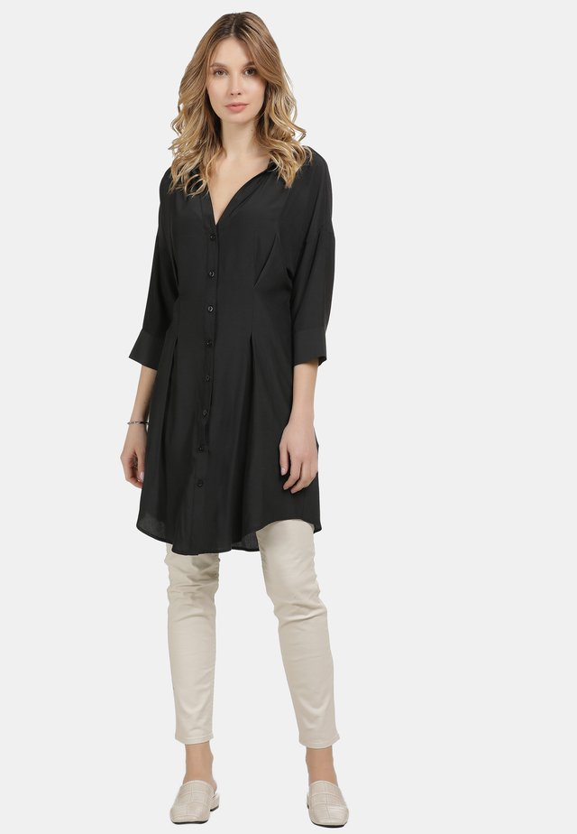 LONGBLUSE - Button-down blouse - schwarz