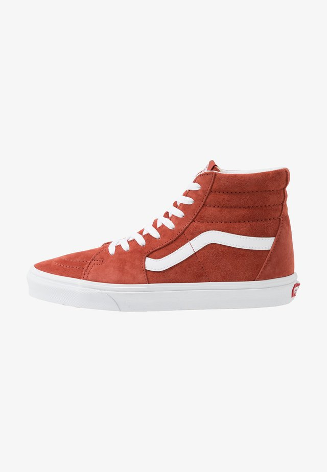 SK8 UNISEX - High-top trainers - burnt brick/true white
