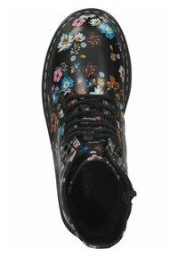 DOCKERS - Lace-up ankle boots - schwarz/orange - 3