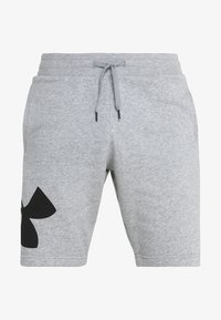 Under Armour - RIVAL LOGO SHORT - Urheilushortsit - steel light heather/black - 4