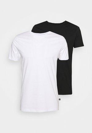 JERMANE 2 PACK - Jednoduché triko - black/white