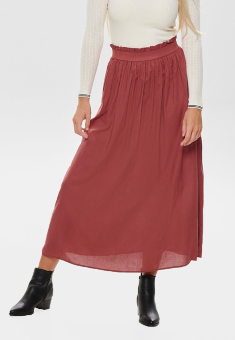 ONLY - Pleated skirt - cowhide