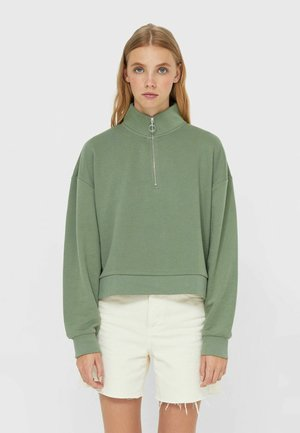 MIT REISSVERSCHLUSS  - Sweatshirt - khaki