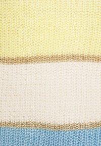 Springfield - BLOCK COLOR  - Strikkegenser - yellow/white/bleu - 2
