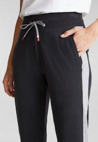 Esprit Sports - MIT SAUMZIPPERN - Tracksuit bottoms - black - 3
