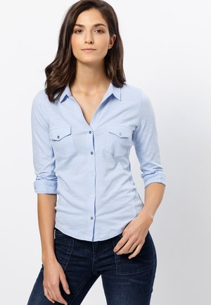 Button-down blouse - fresh blue