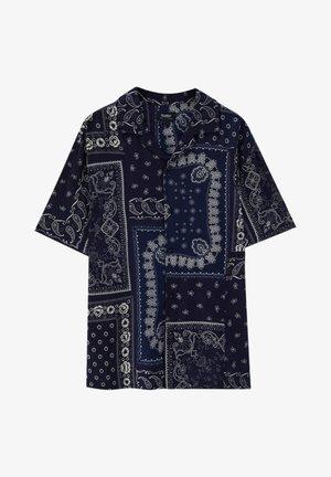 MIT PAISLEYPRINT - Shirt - dark blue
