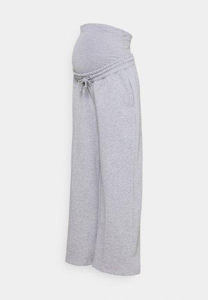 STRAIGHT LEG PINTUCK - Pantalones deportivos - grey marl
