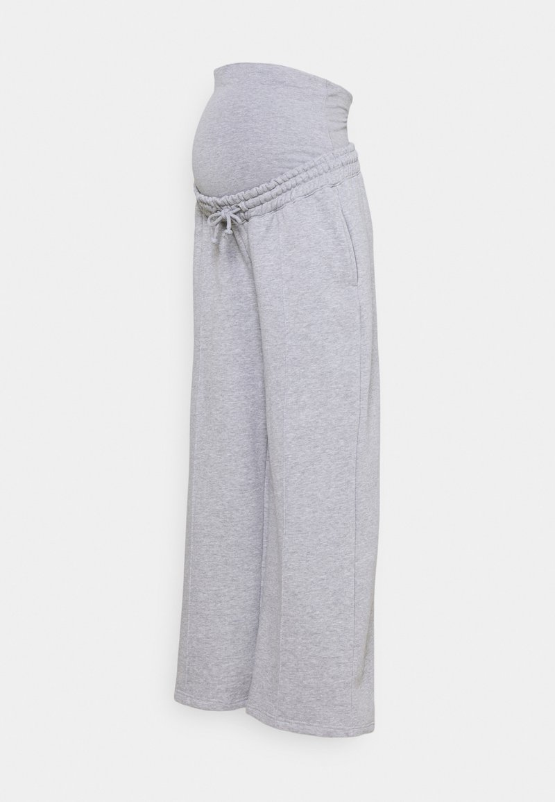 Missguided Maternity - STRAIGHT LEG PINTUCK - Tracksuit bottoms - grey marl
