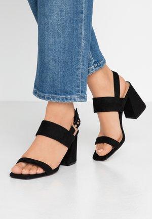 SABRINA BLOCK HEEL - Sandals - black