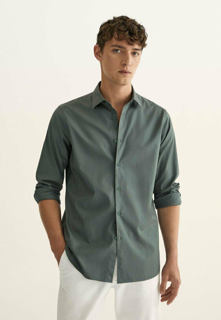 Massimo Dutti - SLIM FIT - Shirt - green