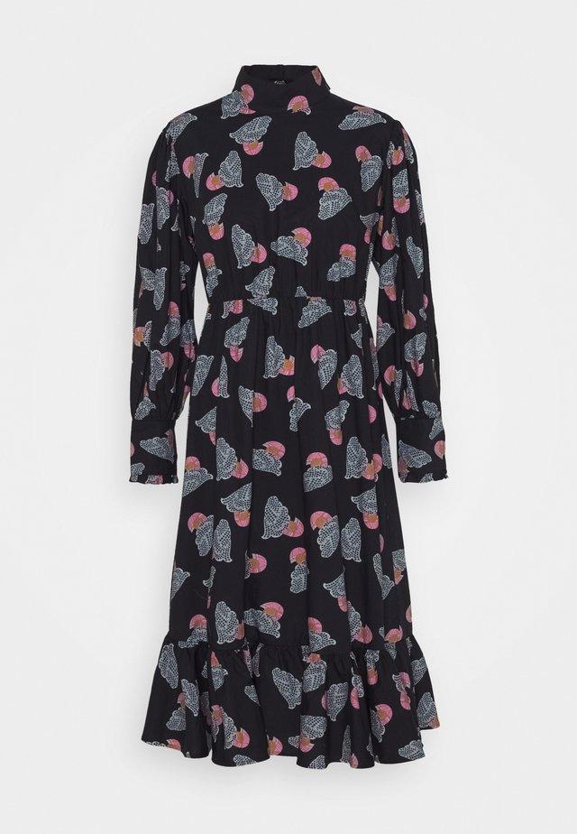 HAMIDA - Korte jurk - anthracite black