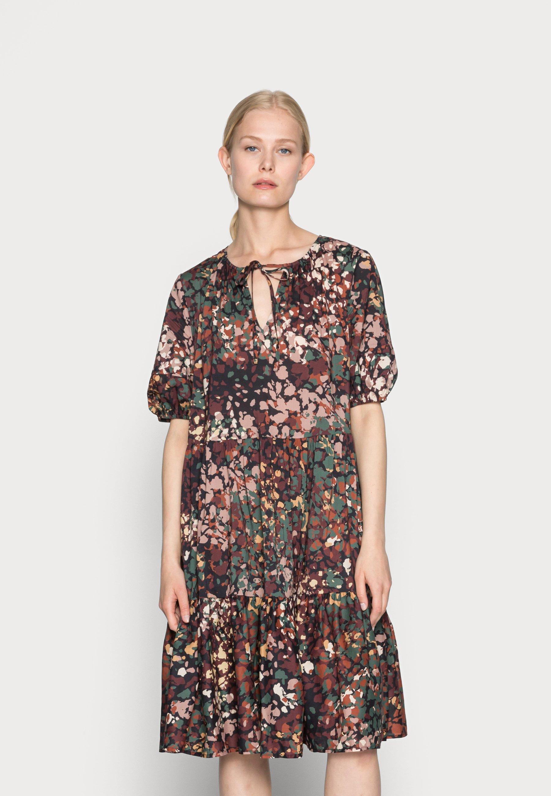 Women FLOWER DRESS - Day dress - black