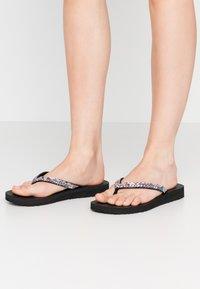 Skechers - MEDITATION - T-bar sandals - black/multicolor - 0