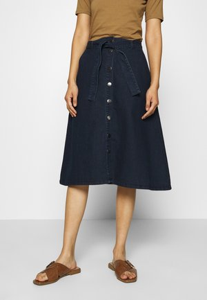 DENIMA SKIRT - Jupe trapèze - denim dark ocean