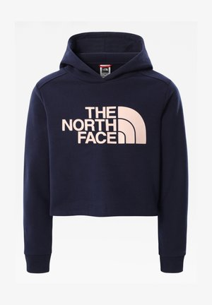G DREW PEAK CROPPED P/O HOODIE - Jersey con capucha - tnf navy