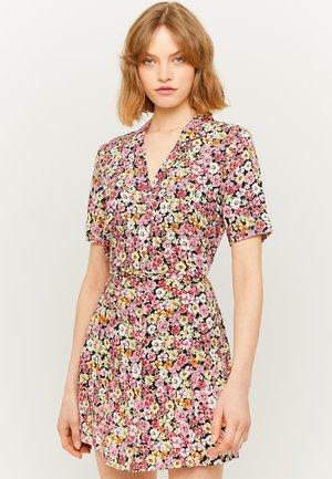 MIT BLUMEN  - Korte jurk - multicolor
