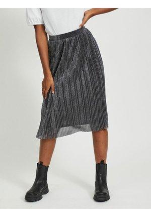 GLITZER - A-line skirt - black