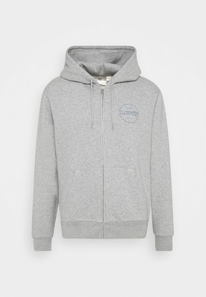 GRAPHIC ZIP UP UNISEX - Collegetakki - greys