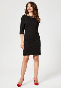 faina - Žerzejové šaty - black - 1