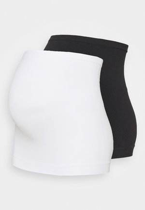 2er PACK seamless belly bands MATERNITY - Toppe - black/white