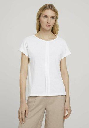FALTENLEGUNG - T-shirt med print - whisper white