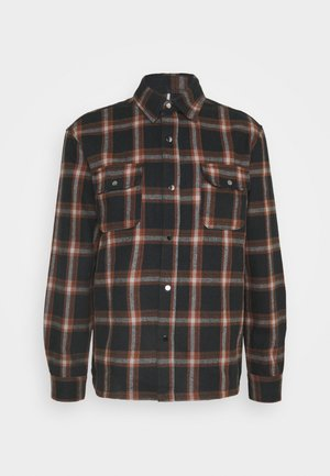 CHECK HEAVY OVERSHIRT - Shirt - brown