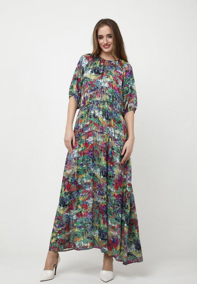 GRETELE - Robe longue - grün rot