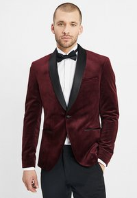 Isaac Dewhirst - FASHION PLAIN JACKET SLIM FIT - Blazer jacket - bordeaux - 0