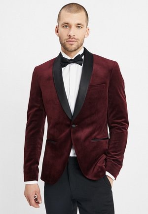 FASHION PLAIN JACKET SLIM FIT - Americana - bordeaux