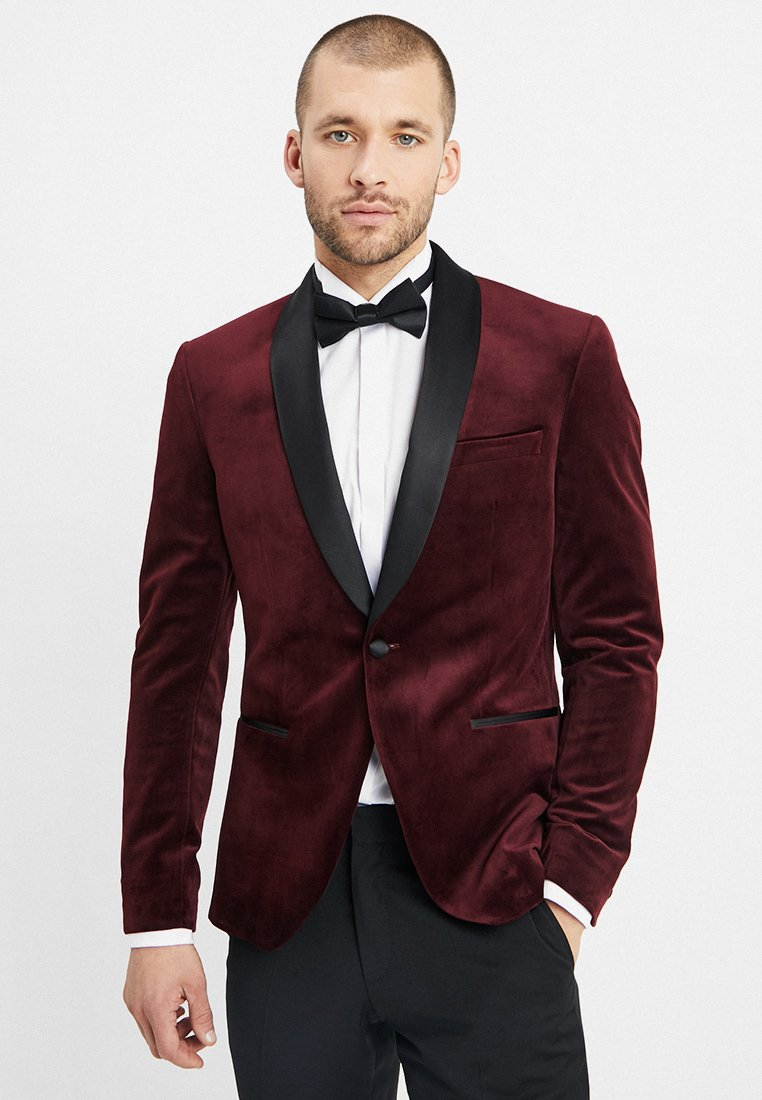 Isaac Dewhirst - FASHION PLAIN JACKET SLIM FIT - Blazer jacket - bordeaux
