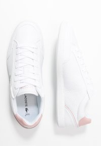 Lacoste - GRADUATE CAP - Baskets basses - white/light pink - 3