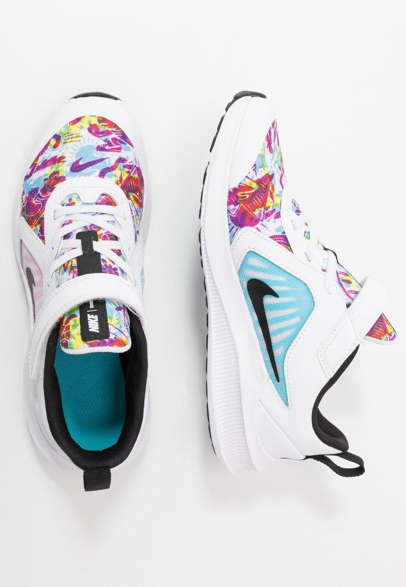 Nike Performance - DOWNSHIFTER 10 FABLE - Zapatillas de running neutras - white/black/fire pink/blue fury