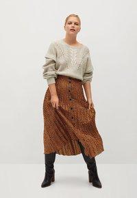 Violeta by Mango - PANTERA - A-line skirt - karamell - 1
